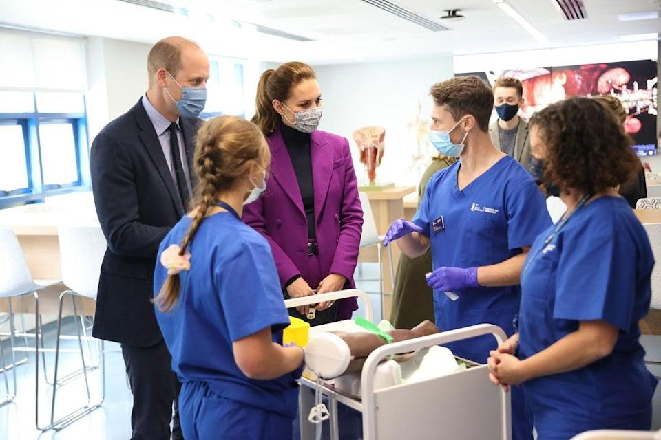 The Duke and Duchess of Cambridge talking with medical students (Chris Jackson/PA) (PA Wire)