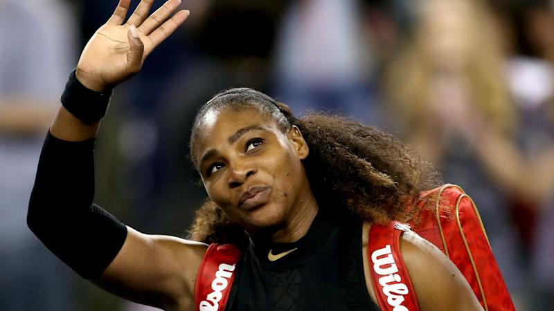 Serena wins her first game in comeback after giving birth