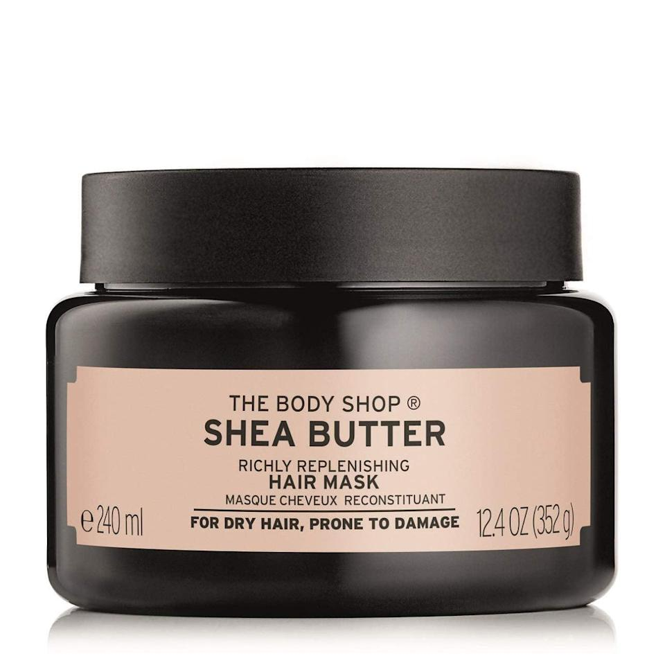 <p><span>The Body Shop Shea Butter Hair Mask</span> ($18) is a deeply conditioning treatment formulated with community-trade shea butter from Ghana (handcrafted by women working with The Body Shop), cocoa butter, olive oil, and coconut oil. Think of this mask as a big tub of TLC for your parched or frayed strands.</p>