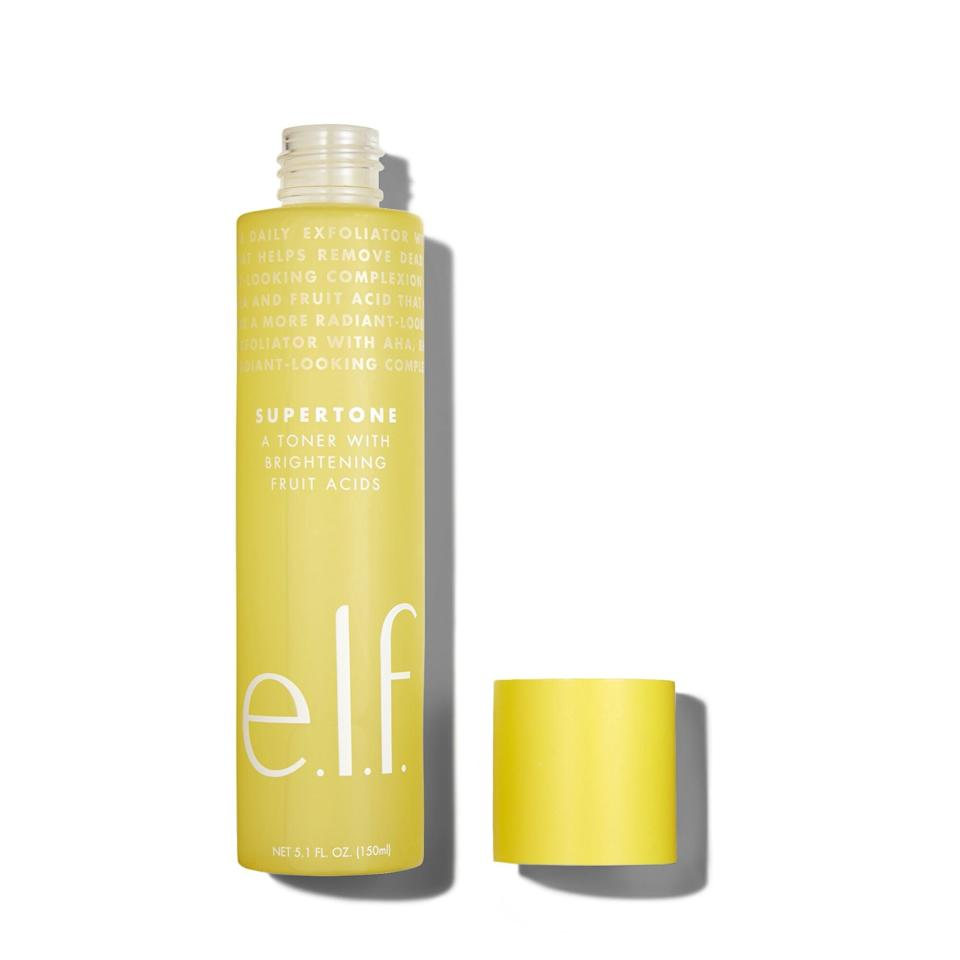 <p>There are few moments in life as sweet as finding a skincare product that fits perfectly into your routine for less than $10. This huge bottle of toner from <span>E.l.f. Cosmetics Supertone Toner</span> ($8) does exactly that and, with the help of witch hazel, fruit acid AHAs, and aloe, quickly evens out dull texture.</p>