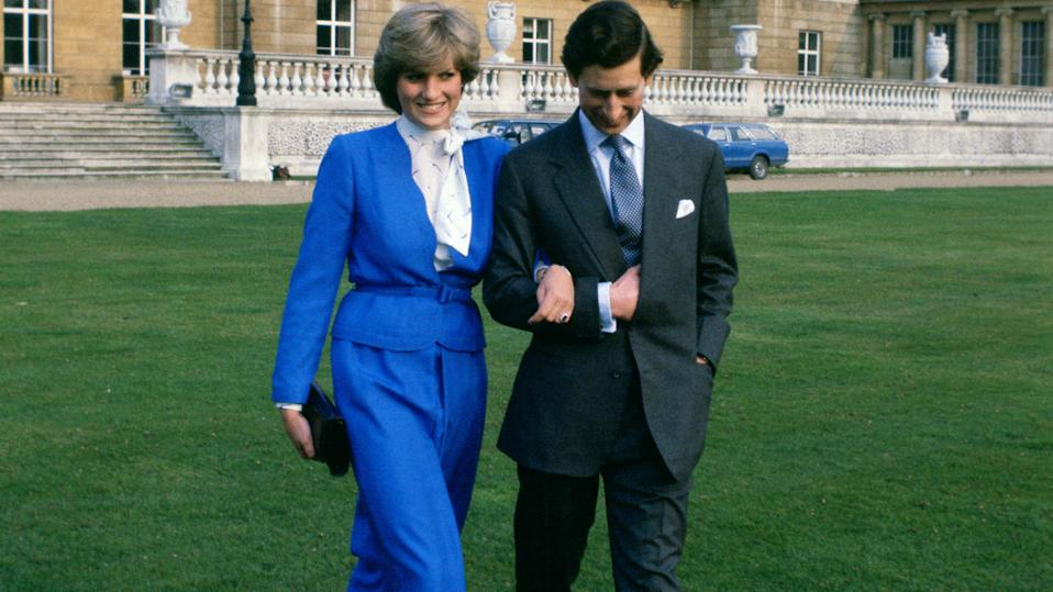 Prince Charles and Princess Diana on the day of announcing their engagement. (Photo by Tim Graham/Getty Images)