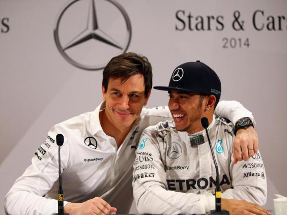 Lewis Hamilton and Toto Wolff share a close relationship (Getty)