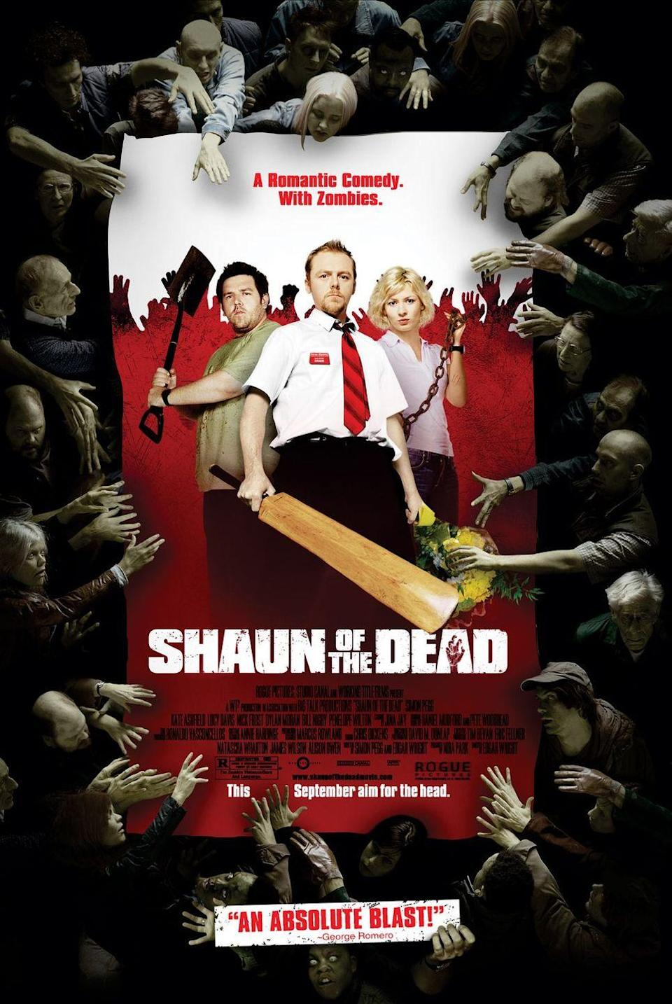 """<p>Meet your new favorite movie genre, the """"zom-rom-com""""! Edgar Wright's witty horror-comedy flick — which follows the titular Shaun (Simon Pegg) during a zombie outbreak in London — combines the best laughs (and a touch of romance) together with some brilliant zombie gore. </p><p><a class=""""link rapid-noclick-resp"""" href=""""https://www.amazon.com/Shaun-Dead-Simon-Pegg/dp/B0018OFN4U?tag=syn-yahoo-20&ascsubtag=%5Bartid%7C10055.g.33546030%5Bsrc%7Cyahoo-us"""" rel=""""nofollow noopener"""" target=""""_blank"""" data-ylk=""""slk:WATCH ON AMAZON"""">WATCH ON AMAZON</a></p>"""