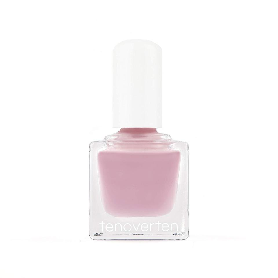 """<h3>Tenoverten Watts<br></h3><br>""""I love this pinkish mauve color for spring,"""" Tenoverten nail pro Nadine Abramcyk tells us of Watts, a cool-toned shade somewhere between <a href=""""https://www.refinery29.com/en-us/light-pink-nail-polish"""" rel=""""nofollow noopener"""" target=""""_blank"""" data-ylk=""""slk:barely-there blush"""" class=""""link rapid-noclick-resp"""">barely-there blush</a> and lavender. """"It's a soft pastel that still makes a fresh statement.""""<br><br><strong>Tenoverten</strong> Nail Polish in Watts, $, available at <a href=""""https://go.skimresources.com/?id=30283X879131&url=https%3A%2F%2Fwww.target.com%2Fp%2Ftenoverten-nail-polish-watts-0-45-fl-oz%2F-%2FA-53931365"""" rel=""""nofollow noopener"""" target=""""_blank"""" data-ylk=""""slk:Target"""" class=""""link rapid-noclick-resp"""">Target</a>"""
