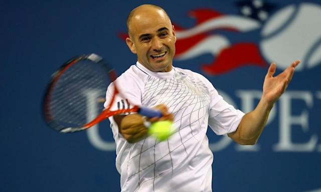 "<span class=""element-image__caption"">Andre Agassi in action at his final tournament – the 2006 US Open. He lost to Benjamin Becker in the third round.</span> <span class=""element-image__credit"">Photograph: Al Bello/Getty Images Sport</span>"