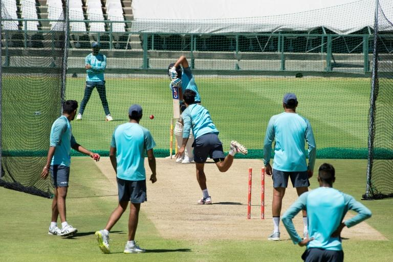 India's cricket team players take part in a training session at the Newlands Cricket ground in Cape Town, on January 3, 2018, prior to their three-Test series against South Africa