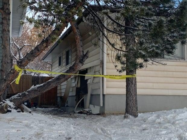 The basement of this house in Southwood was badly damaged in a fire early Tuesday morning.
