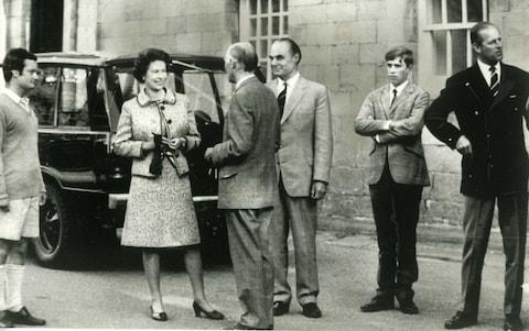 The Queen with Prince Philip and Prince Andrew at Gordonstoun on Prince Andrew's first day as a pupil there. - Credit: PA