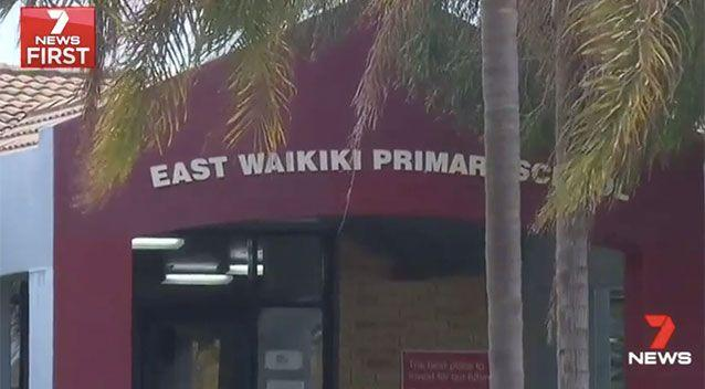 The incident happened at East Waikiki Primary School. Source: 7 News