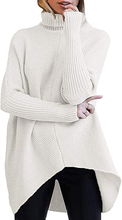 <p>This <span>ANRABESS Turtleneck Sleeve Asymmetric Sweater</span> ($36) comes in so many color choices.</p>