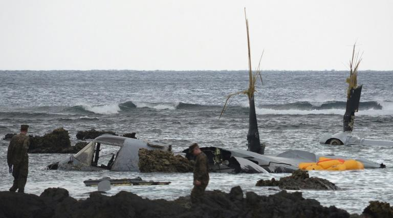 The Pentagon described the December 2016 crash, which saw the plane end up in shallow water off Okinawa, as a 'mishap'