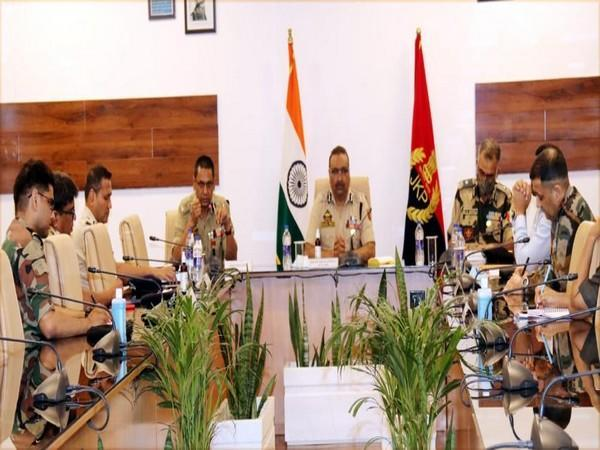 DGP Dilbagh Singh chaired a high-level joint security meeting on Monday (Photo/ANI)