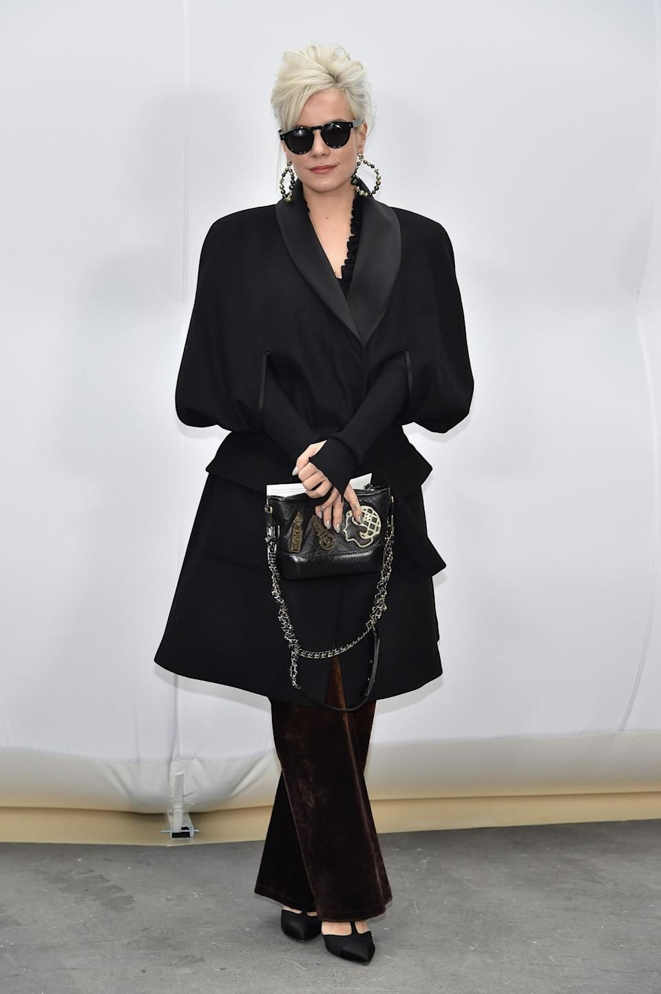 <p>Lily Allen was sophisticated in black. <i>[Photo: Getty]</i> </p>