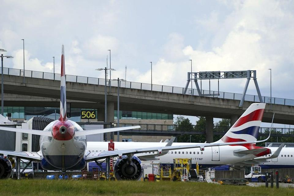 British Airways' owner IAG was among the worst performers on Tuesday (Steve Parsons/PA) (PA Wire)