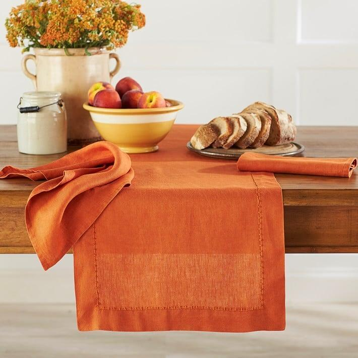 <p>Elevate any meal with this textured <span>Italian Washed Linen Table Runner</span> ($17 - $70). It's designed for a soft touch and a crinkled finish, which conveys an inviting look.</p>