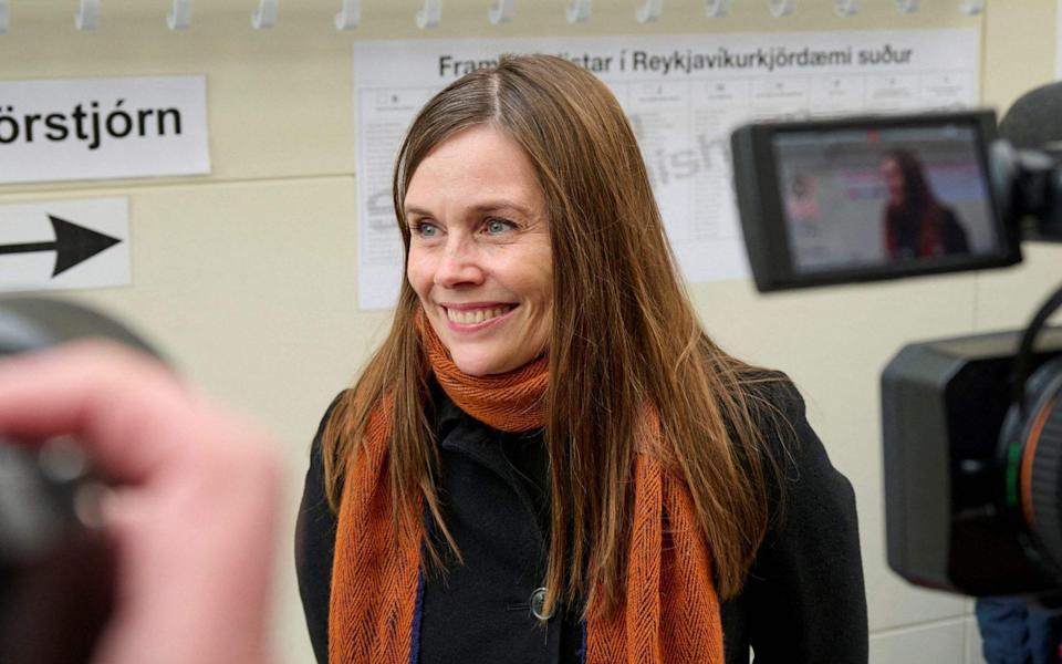 Iceland's Prime Minister Katrin Jakobsdottir pictured during the election