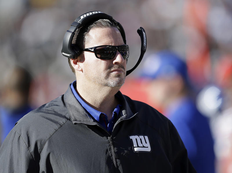 Former Giants coach Ben McAdoo said he benched Eli Manning for the good of the franchise. (AP)
