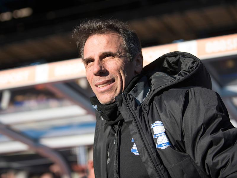 Gianfranco Zola has struggled since arriving at Birmingham in December: Getty