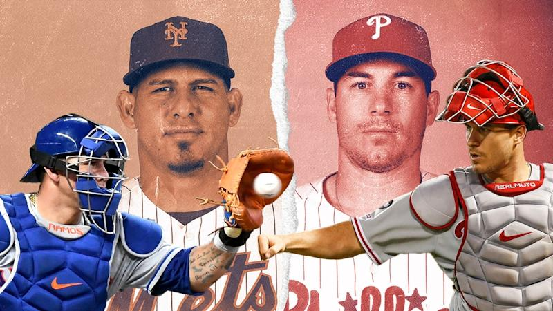 Wilson Ramos and J.T. Realmuto TREATED ART
