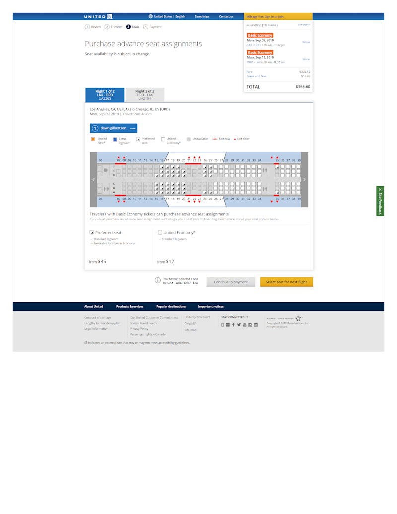 United Airlines allows passengers buying basic economy tickets to purchase a seat assignment at booking or anytime before their flight.