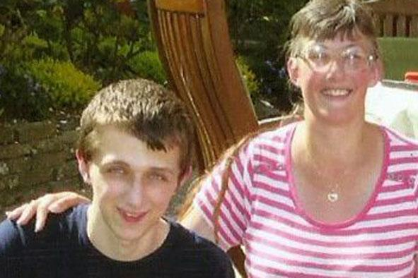 Family photo: Lynne Sandford and her son Michael (PA Wire)