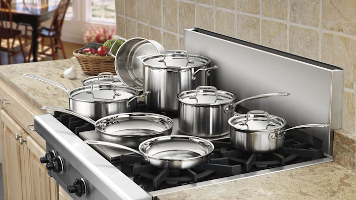 This stainless-steel cookware set aced our cooking tests.