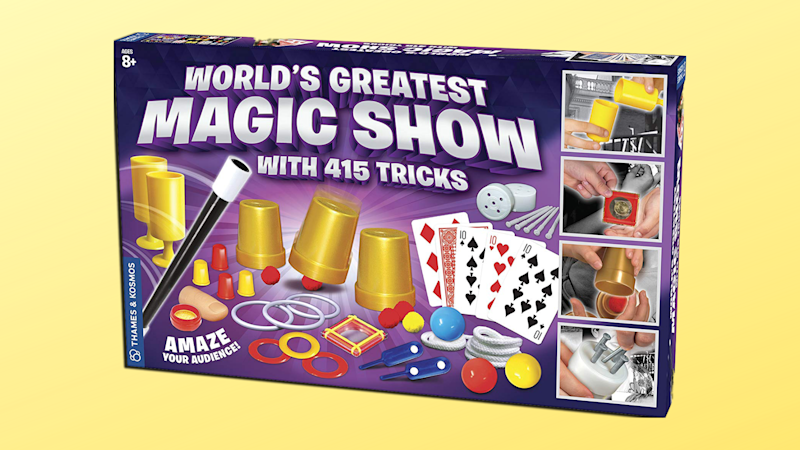 It features more than 400 magic tricks. (Photo: Amazon/Yahoo Lifestyle)
