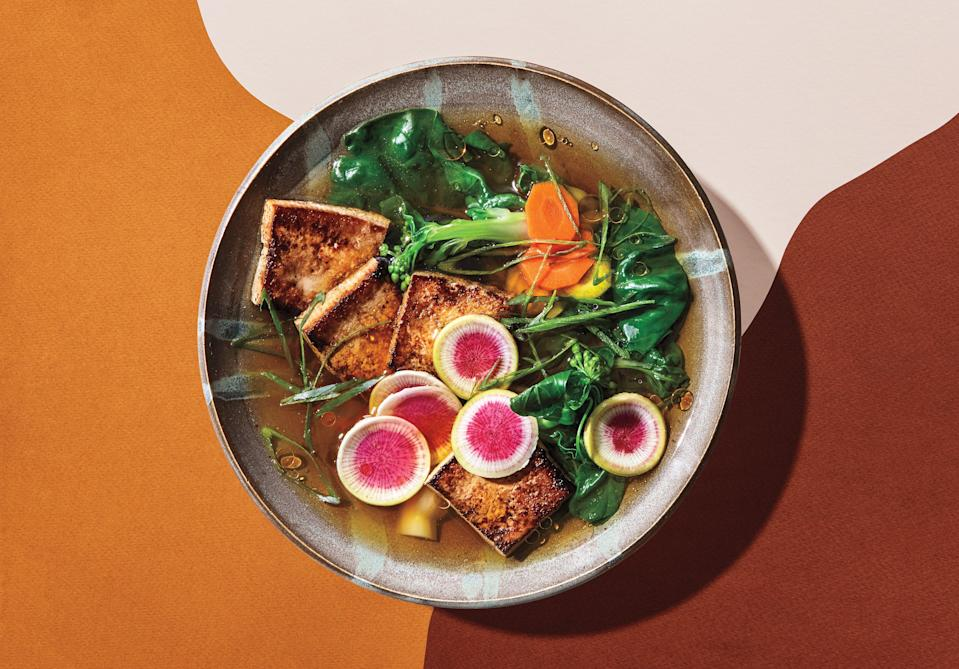 "Make a double or triple batch of the dashi and freeze in airtight containers to keep for making savory soups on the fly. <a href=""https://www.bonappetit.com/recipe/crispy-tofu-in-shiitake-broth?mbid=synd_yahoo_rss"" rel=""nofollow noopener"" target=""_blank"" data-ylk=""slk:See recipe."" class=""link rapid-noclick-resp"">See recipe.</a>"