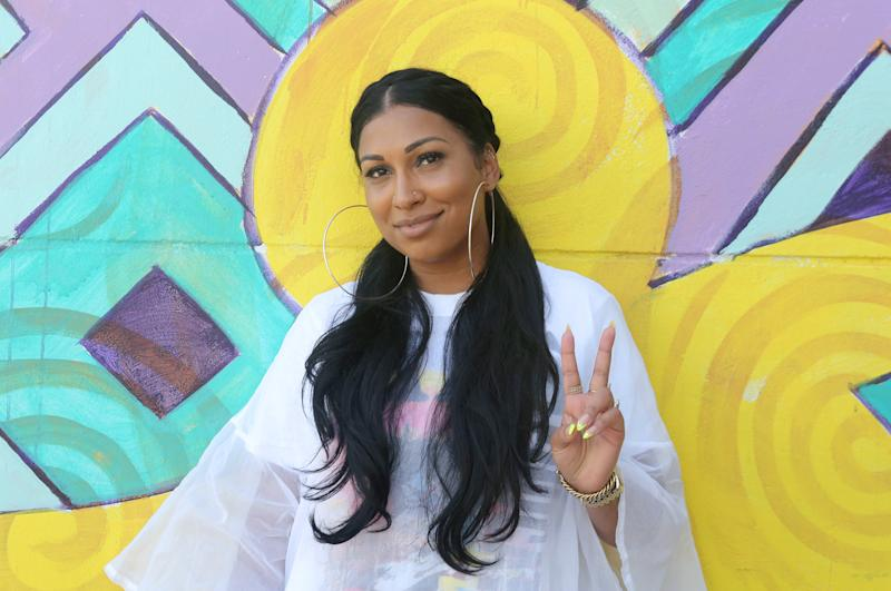 MIAMI, FLORIDA - JULY 13: Melanie Fiona poses backstage at Overtown Music & Arts Festival on July 13, 2019 in Miami, Florida. (Photo by Thaddaeus McAdams/Getty Images)
