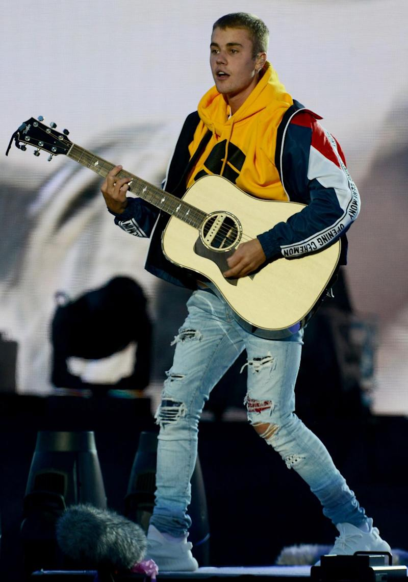 Justin performed at Ariana Grande's benefit concert One Love Manchester over the weekend. Source: Getty