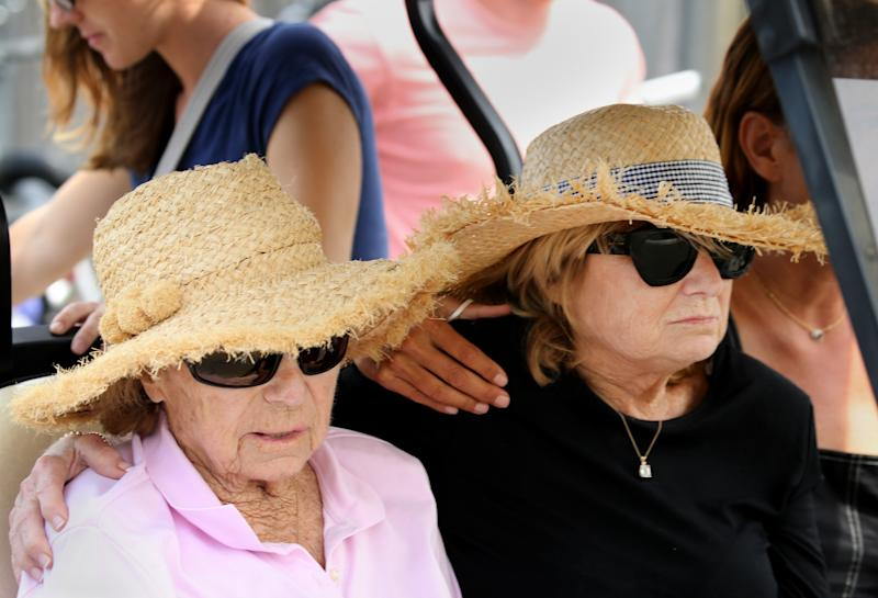 Ethel Kennedy and Courtney Kennedy Hill mourn the loss of 22-year-old Saoirse Kennedy Hill, who died on August 1. (Photo: Getty Images)