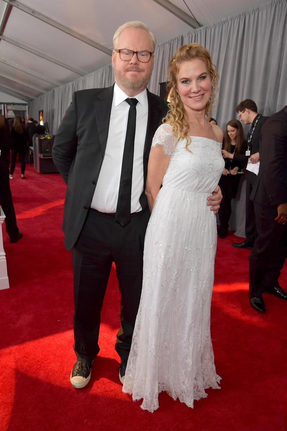 """<h1 class=""""title"""">Jim Gaffigan and Jeannie Gaffigan</h1><cite class=""""credit"""">Photo: Getty Images</cite>"""