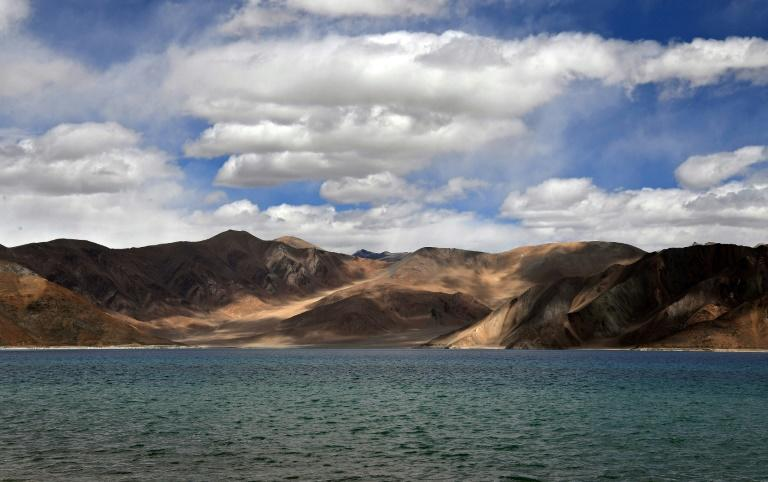 Pangong Lake in the Leh district of Ladakh bordering India and China