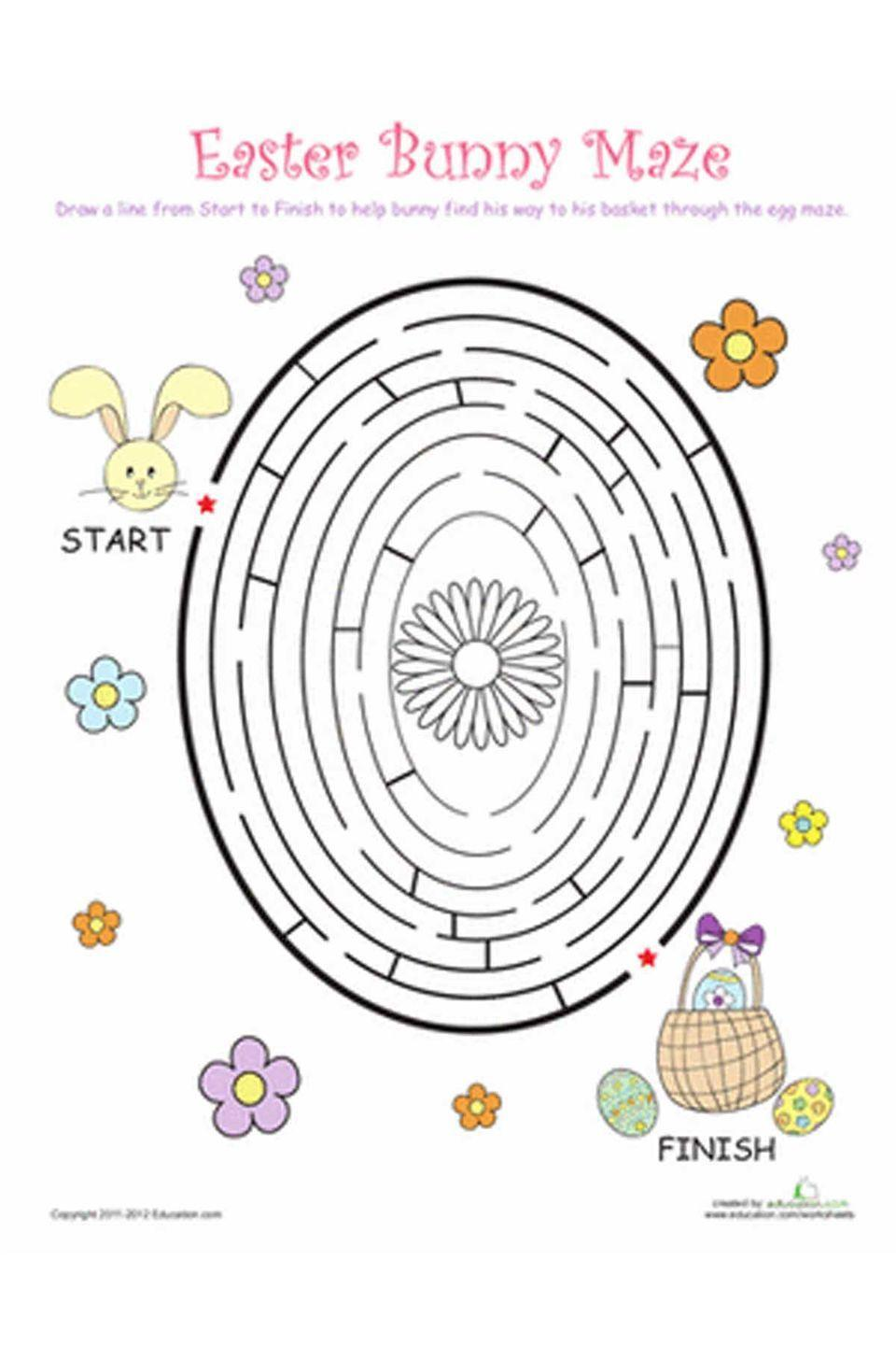 """<p>This free printable maze game will keep the kids busy while the adults clean up the kitchen after your Easter feast. </p><p><em><a href=""""http://www.education.com/worksheet/article/easter-egg-maze1/"""" rel=""""nofollow noopener"""" target=""""_blank"""" data-ylk=""""slk:Get the download"""" class=""""link rapid-noclick-resp"""">Get the download</a>. </em></p>"""