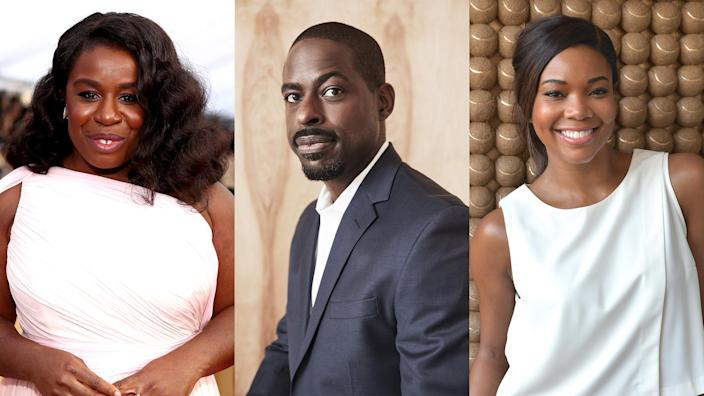 """Uzo Aduba, Sterling K. Brown and Gabrielle Union are teaming up with other big names to do an all-Black rendition of the classic NBC show """"Friends."""" (Getty Images)"""