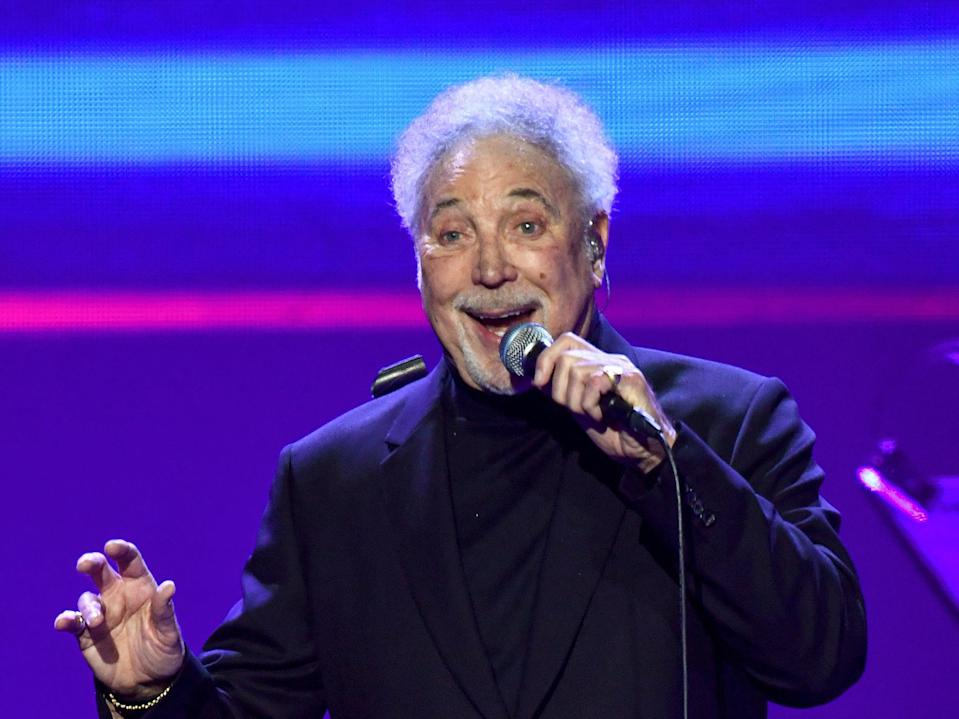 Tom Jones performing at the O2 Arena in 2020 (Gareth Cattermole/Getty Images)