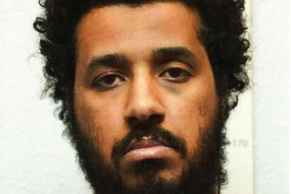 <p>Sahayb Abu, 27 bought an 18-inch sword during the lockdown.</p> (PA)