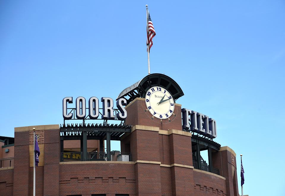 Coors Fields in Denver, Colorado is the home stadium for the Colorado Rockies Major League Baseball team.  (Photo: Robert Alexander via Getty Images)