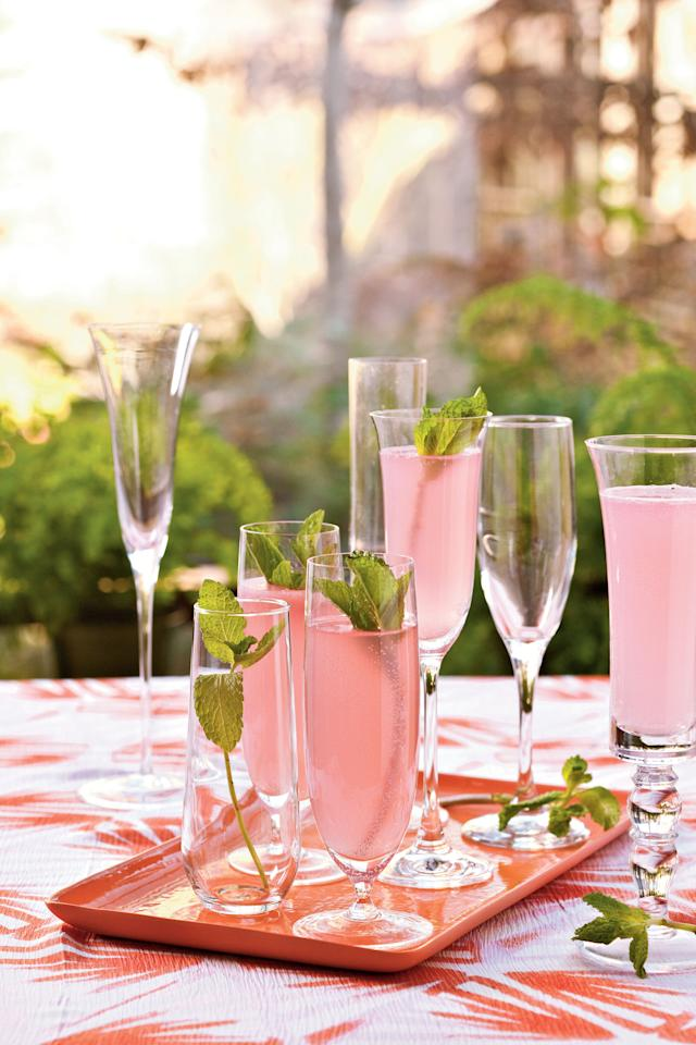"""<p><b>Recipe: </b><a href=""""https://www.southernliving.com/recipes/pink-sparkling-punch""""><b>Sparkling Punch</b></a></p> <p>We transformed classic lemonade into a refreshing Sparkling Punch. </p>"""