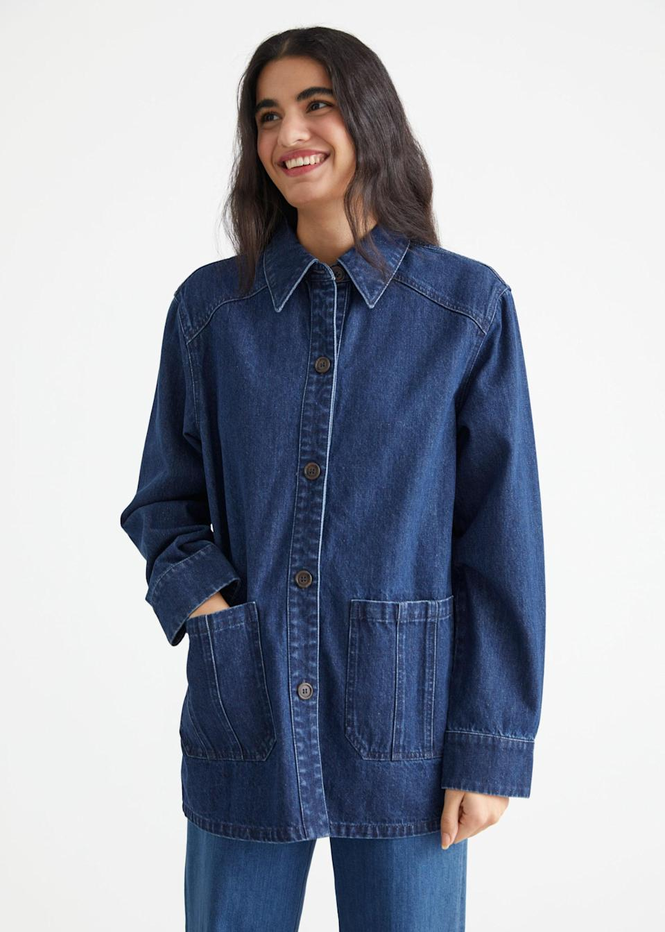 <p>Perfect your denim-on-denim look by pairing this <span>&amp; Other Stories Relaxed Patch Pocket Denim Jacket</span> ($119) with your favorite jeans.</p>