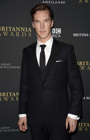 Actor Benedict Cumberbatch attends the BAFTA Los Angeles Britannia Awards in Beverly Hills, California November 9, 2013. REUTERS/Phil McCarten