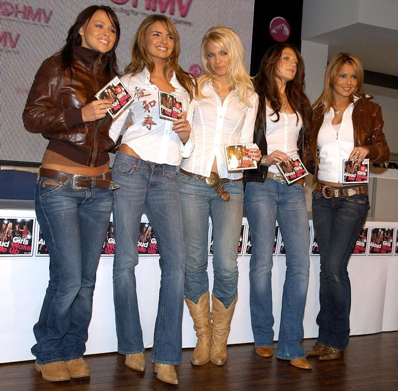 (From left to right) Kimberley Walsh, Nadine Coyle, Sarah Harding, Cheryl Tweedy and Nicola Roberts from Girls Aloud during an in store appearance at HMV music store in Oxford Street