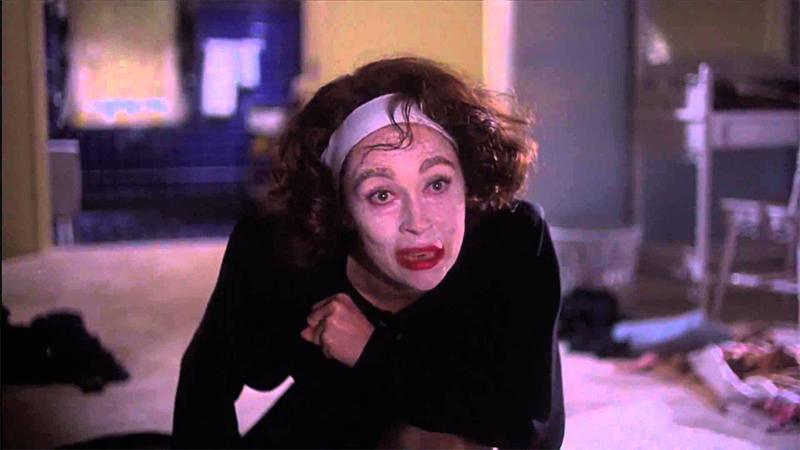 Joan Crawford before the wire hanger tirade in Mommie Dearest.
