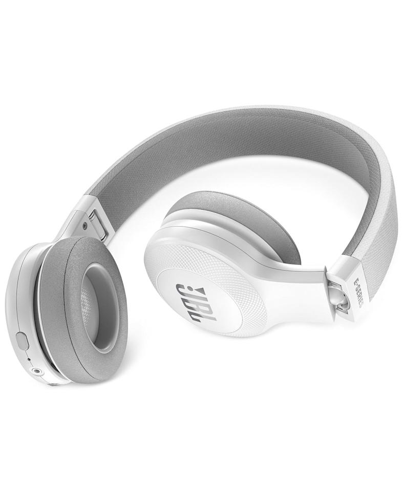 "<p>These <a href=""https://www.popsugar.com/buy/JBL-Bluetooth-Wireless-Headphones-499159?p_name=JBL%20Bluetooth%20Wireless%20Headphones&retailer=macys.com&pid=499159&price=100&evar1=savvy%3Aus&evar9=46729336&evar98=https%3A%2F%2Fwww.popsugar.com%2Fphoto-gallery%2F46729336%2Fimage%2F46729426%2FJBL-Bluetooth-Wireless-Headphones&list1=shopping%2Cgift%20guide%2Cgifts%20for%20her%2Cgifts%20for%20women%2Cmacys&prop13=api&pdata=1"" rel=""nofollow"" data-shoppable-link=""1"" target=""_blank"" class=""ga-track"" data-ga-category=""Related"" data-ga-label=""https://www.macys.com/shop/product/jbl-bluetooth-wireless-headphones?ID=4651091&amp;CategoryID=143743"" data-ga-action=""In-Line Links"">JBL Bluetooth Wireless Headphones</a> ($100) are great for traveling.</p>"