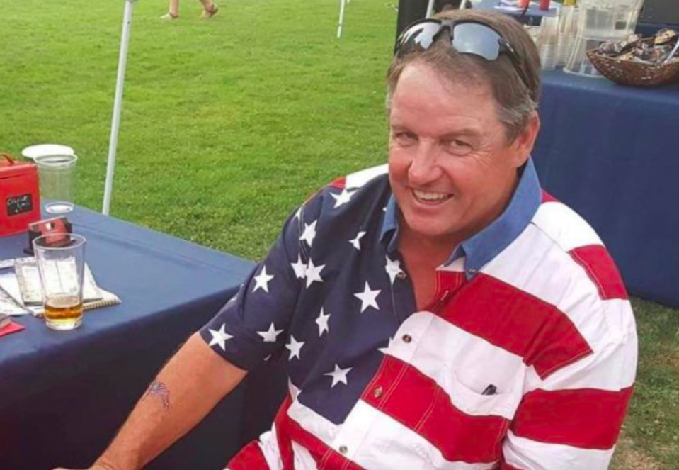 <p>Keen golfer Kurt Von Tillow, from California, was shot alongside his niece and sister, who were both injured in the attack. A golf cart procession was held at Cameron Park Country Club to remember the 55-year-old. (ABC News) </p>