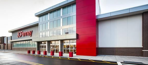 The exterior of a JCPenney store