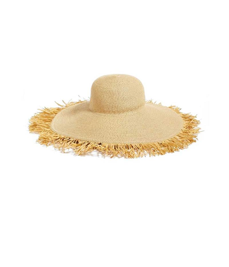 Raw fringe hat. (Photo: Eric Javits/Barney's New York)