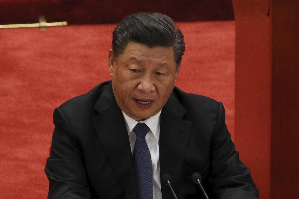 Pictured is Chinese president Xi Jinping.