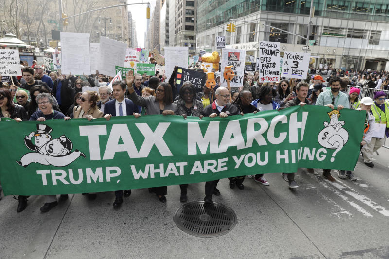 Donald Trump's Tax Returns: Thousands Rally Demanding Their Release