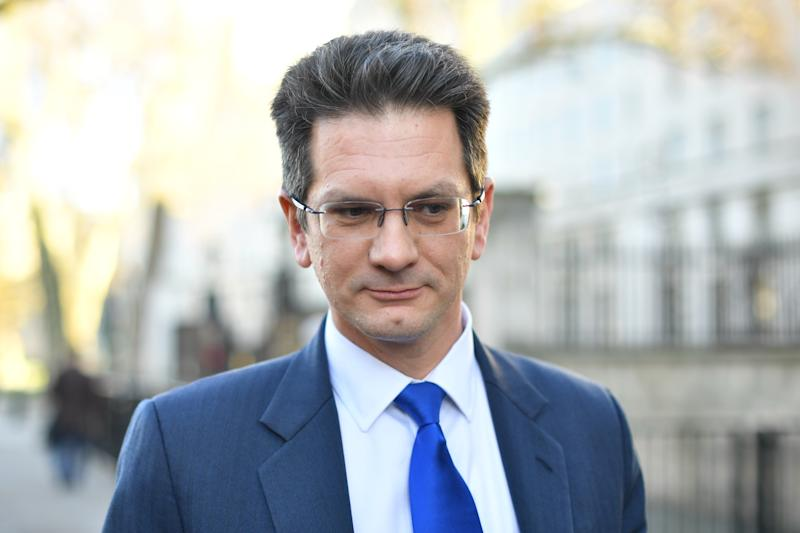 Steve Baker in Whitehall, London, leaves the Cabinet Office after the Prime Minister announced that she would invite party leaders in the Commons and other MPs in for discussions to get a Parliamentary consensus on the way forward over Brexit.